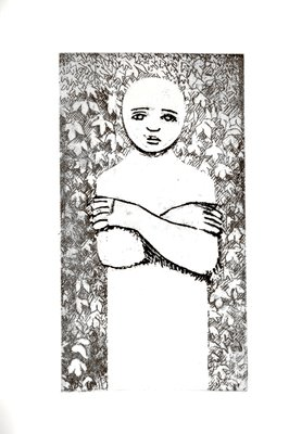 Standing Figure with Crossed Arms by Kenneth Armitage - print