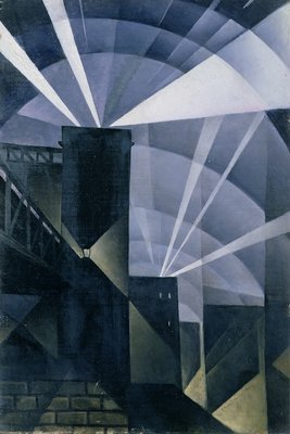 The First Searchlights at Charing Cross, 1914 by Christopher Richard Wynne Nevinson - print