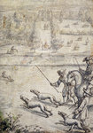 Coursing the Hare, illustration to Richard Blome's 'The Gentleman's Recreation' pub. 1686