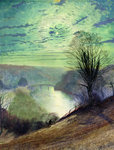 On the Tees, near Barnard Castle, c.1868 by John Atkinson Grimshaw - print