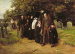 I am the Resurrection and the Life, or The Village Funeral, 1872 by Edward Hughes - print