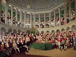 The Irish House of Commons, 1780 Fine Art Print by English School
