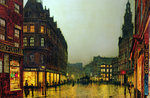 Boar Lane, Leeds, 1881 by Mark Fisher - print