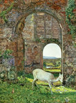 The White Doe of Rylstone, 1855 by George Arthur Fripp - print