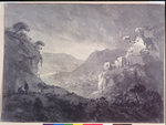 View into a Winding Valley by Joseph Rhodes - print