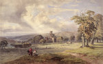 View of Kirkstall Abbey, Leeds, 1860 by John Northcote Nash - print