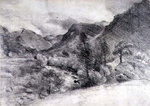 Borrowdale, Morning, c.1806 by Ando or Utagawa Hiroshige - print