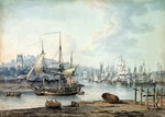 Towing a Warship out of Bristol Harbour, 1783