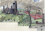Millworkers Landscape, c.1920 by Patrick William Adam - print