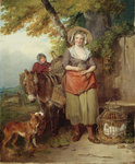 The Return from Market, 1786 by Edward Armitage - print
