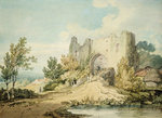 Llanblethian Castle Gateway, 1797 by George Arthur Fripp - print
