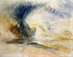 Mount St Gothard by Joseph Mallord William Turner - print