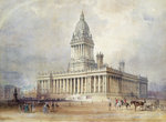 Design for Leeds Town Hall, 1854 by Joseph Mallord William Turner - print