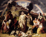 Noah's Sacrifice, 1847-53 by Edward Hughes - print