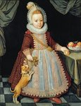 Portrait of a Child with a Rattle, 1611 by Henry Silkstone Hopwood - print