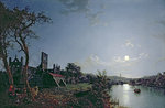 Morning with a View of Kirkstall Abbey by Axel Haig - print