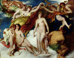 Pandora Crowned by the Seasons, 1824 by William Etty - print
