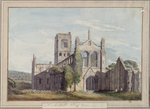 North West View of Kirkstall Abbey, 1777 by David Roberts - print
