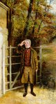 Portrait Sketch of William Wright, Gatekeeper at Bramham Park, Yorkshire, 1822 by George Garrard - print