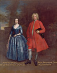 Portrait of Rich, 5th Viscount Irwin and his Wife Anne, c.1715-20 by Benjamin Wilson - print