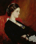Portrait of The Hon. Mrs Emily Meynell-Ingram by George Baxter - print