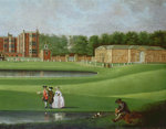 View of Temple Newsam House, detail of the stable block, c.1750 by James Chapman - print
