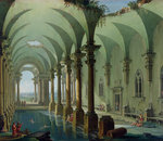 Architectural Fantasy by Joseph Mallord William Turner - print