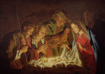 Adoration of the Shepherds by Christian Wilhelm Ernst Dietrich - print