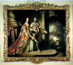 Earl and Countess of Mexborough, with their son Lord Pollington, 1761-64 by Rembrandt Harmensz. van Rijn - print
