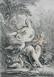 Mythological subject, engraved by Giles Demarteau by William Etty - print