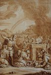 Noah after the Flood, engraved by Elishah Kirkhall by Daniel Maclise - print