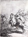 A Cavalry Fight by Ernest Crofts - print