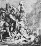 Stoning of St. Stephen by Salvator Rosa - print