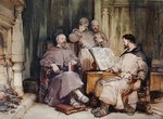 The Four Monks by Francis Wheatley - print