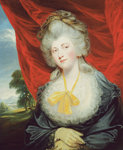Portrait of the Hon. Isabella Ingram, later Marchioness of Hertford by English School - print