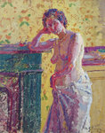 Interior with Nude by Harold Gilman - print