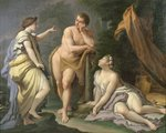 The Choice of Hercules Fine Art Print by Artemisia Gentileschi