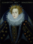 Portrait of Queen Elizabeth I by Paul van Somer - print