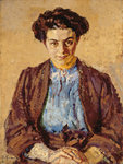 The Blue Blouse, Portrait of Elene Zompolides
