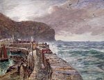 Clovelly Pier, 1897 by William Hodges - print