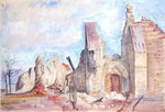 The West Front, Marchelepot Church by Antonio Joli - print