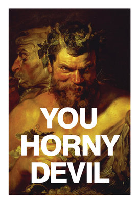 Horny Devil Card Wall Art & Canvas Prints by Valentine Cards
