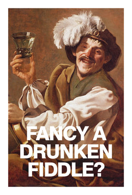 Fancy a Drunken Fiddle Card Wall Art & Canvas Prints by Valentine Cards