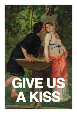 Give us a Kiss Card Wall Art & Canvas Prints by Valentine Cards