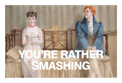 You're Rather Smashing Card Wall Art & Canvas Prints by Valentine Cards