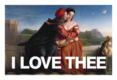 I Love Thee Card Wall Art & Canvas Prints by Valentine Cards