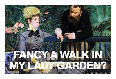Fancy a Walk in my Lady Garden Card Wall Art & Canvas Prints by Valentine Cards