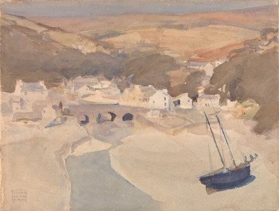 Old Laxey, Lonan Wall Art & Canvas Prints by Archibald Knox