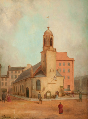 Old St Matthew's Church, Douglas Wall Art & Canvas Prints by Wright