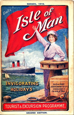 The Isle of Man Steam Packet Co.'s Tourist & Excursion Programme Season 1914, Official Guide Wall Art & Canvas Prints by Isle of Man Steam Packet Co. Ltd.